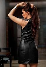 SOLEIL  by XXX COLLECTION Eco leren jurk heeft aan de voorkant een ritssluiting.