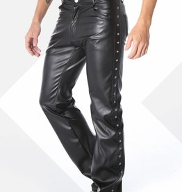 XXX COLLECTION Zwart leren heren broek 5-pocket