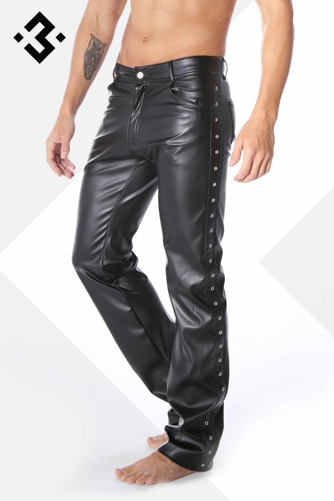 XXX COLLECTION Zwart leren heren broek 5-pocket