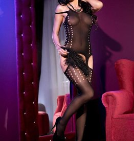 CHILIROSE Bodystocking CR4107-Zwart