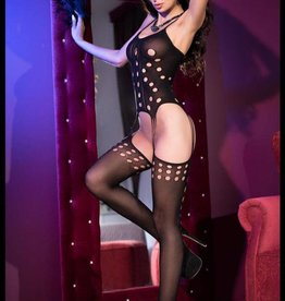 CHILIROSE Bodystocking CR4104-Zwart