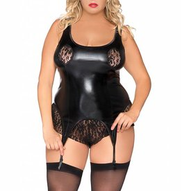 Zwarte wetlook body SB5018 van Andalea
