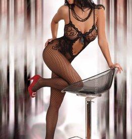 LIVCO CORSETTI Zwarte bodystocking Magali