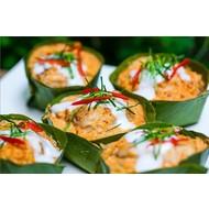 Gestoomde vis in curry