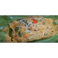 Gestoomde champignons met curry (mok hed)