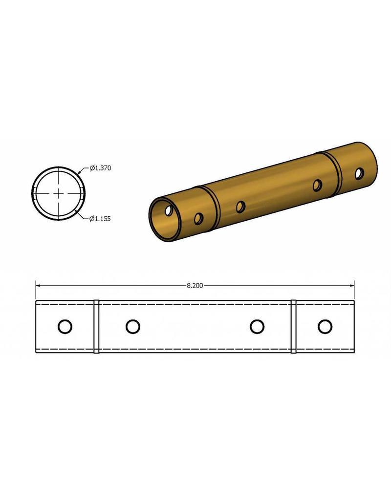 KMT Style Liner, HP Cylinder, Brass, SLV, 75S/100S, Single Inlet