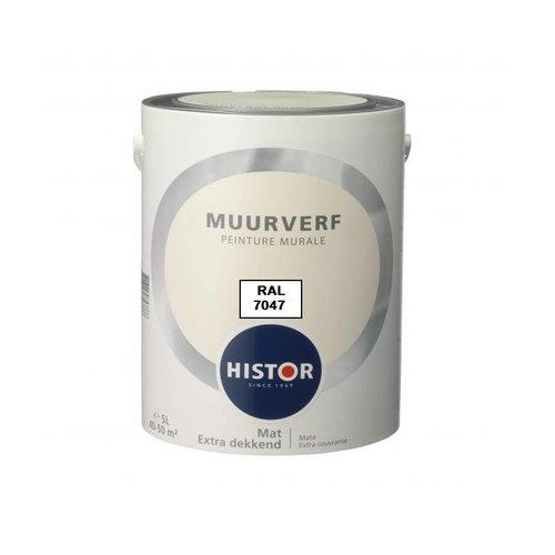 Histor Muurverf RAL 7047 (1 Liter)