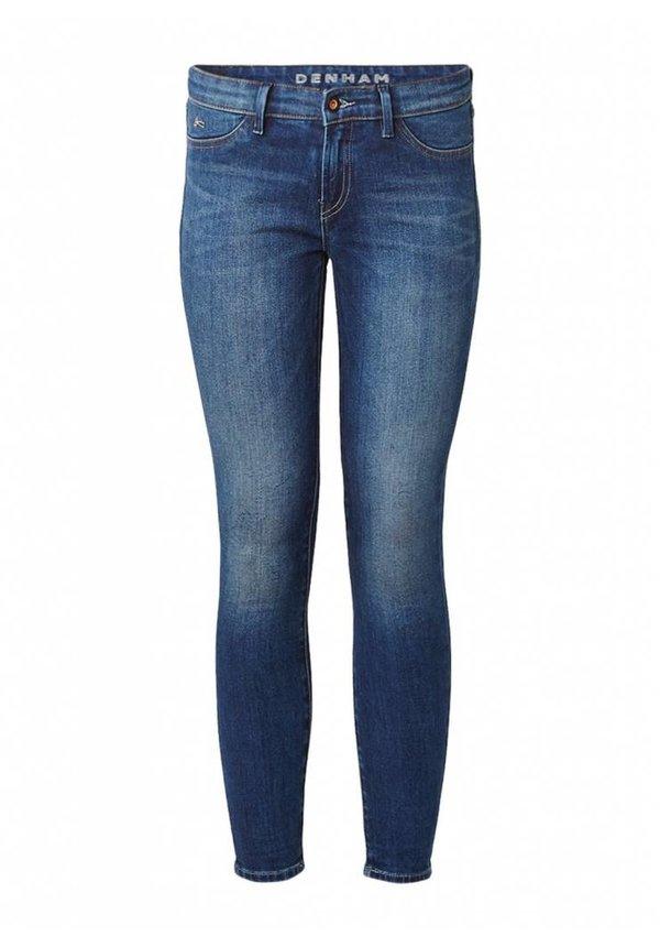 Mid rise skinny jeans met faded look