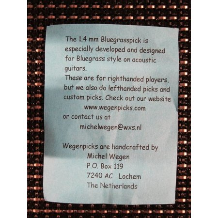 Wegen Picks WEGEN PICKS 1.4mm Bluegrasspick ZWART