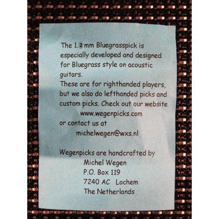 Wegen Picks WEGEN PICKS 1.2mm Bluegrasspick ZWART