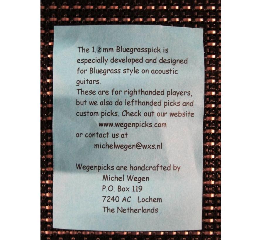WEGEN PICKS 1.2mm Bluegrasspick ZWART