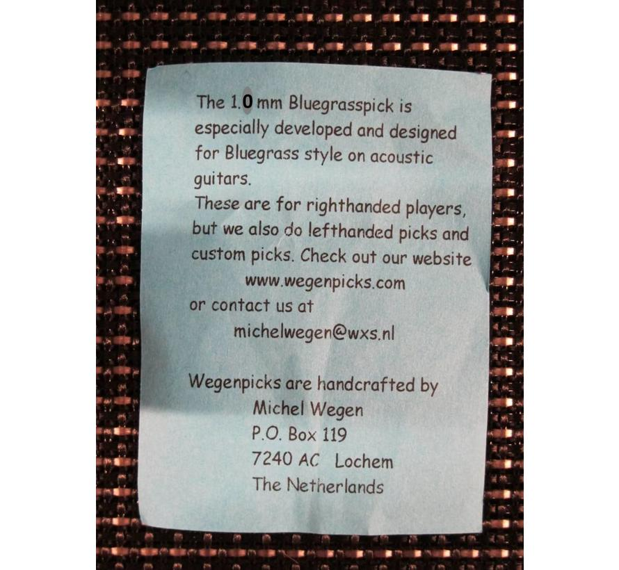 WEGEN PICKS 1.0mm Bluegrasspick ZWART
