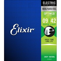 Elixir 19002 Electric Optiweb Super Light 9-42 snarenset