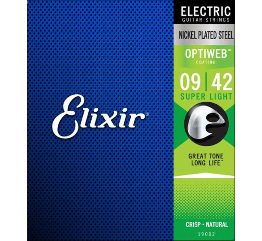 Elixir 19002 Electric Optiweb Super Light 9-42 snarenset