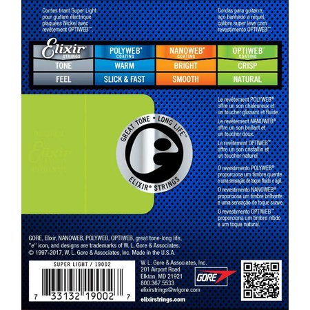 Elixir Elixir 19052 Electric Optiweb Super Light 10-46 snarenset