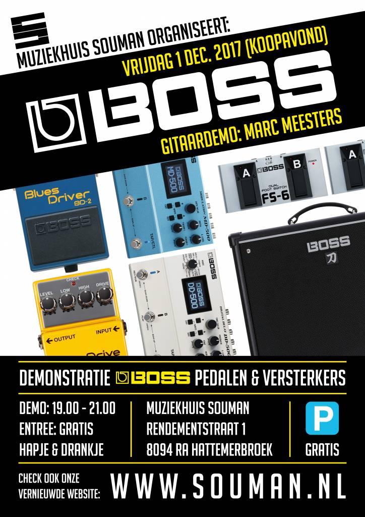 Demonstratie Boss pedalen & versterkers