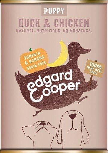 Edgard & Cooper blik puppy eend en kip 400gr