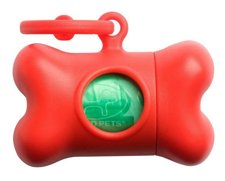 Bon ton nano kleine poepzakhouder   been vorm mat rood