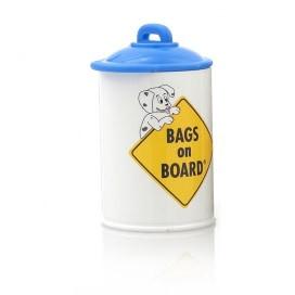 Bags on board poepzakhouder doosje wit +rol