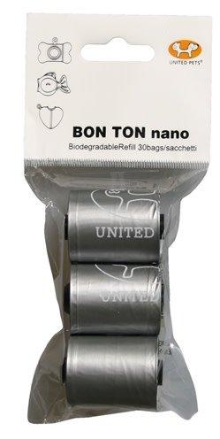 Bon ton nano Poepzak Refills klein 3x10 zilver