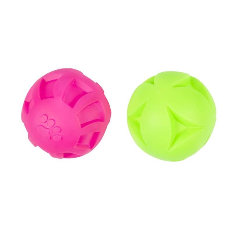 Laroy vinyl bal met groeven roze