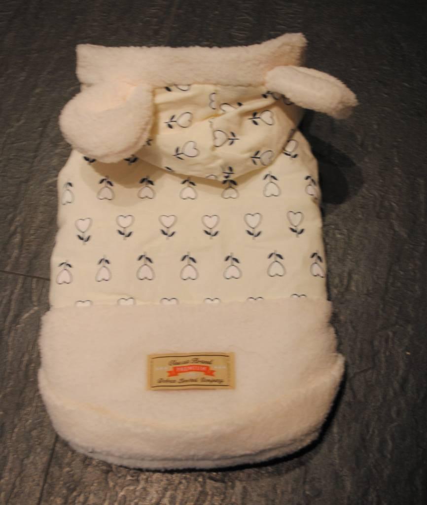 dobaz witte mantel met oortjes