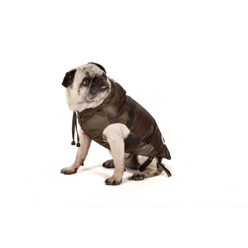 I love my dog camou rain coat