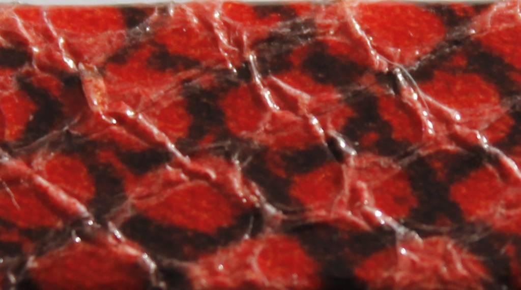 Lella Su harnas croco rood