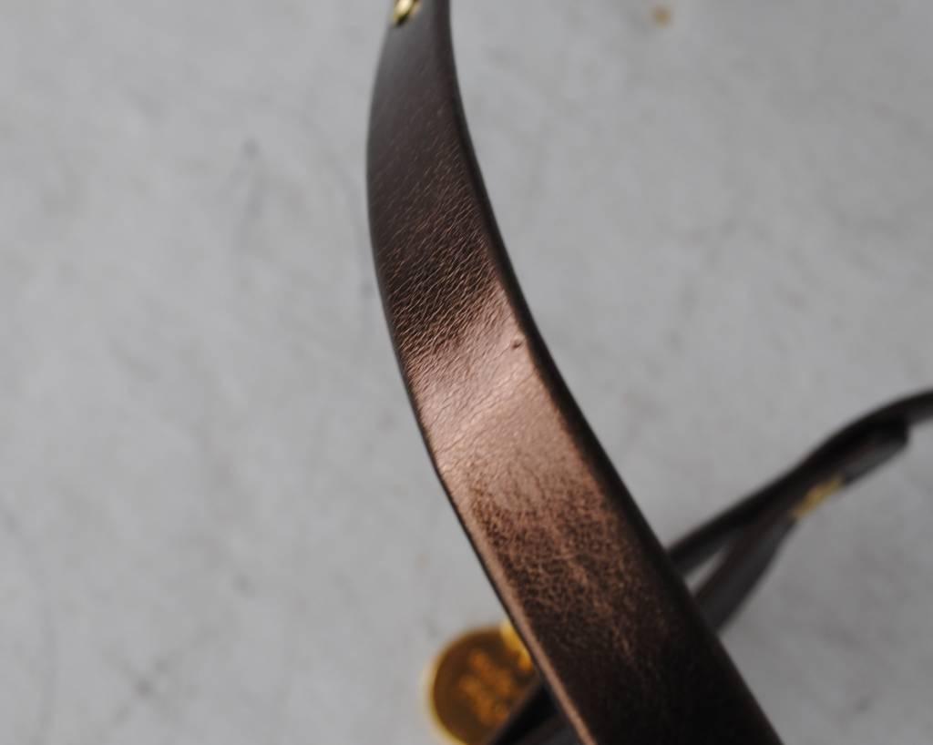 Charlotte's dress harnas effen (doorschuivend) brons