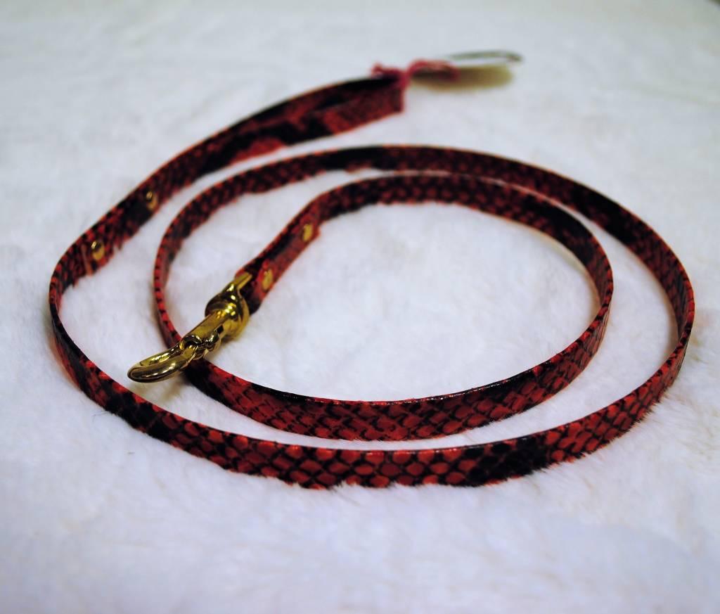 Lella Su lijn rode croco 110 x 1 cm