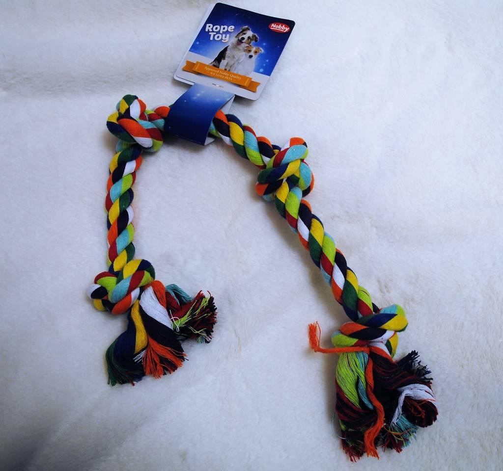 Nobby touw 4 knopen multicolor