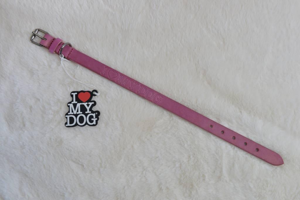 I love my dog winter color pink