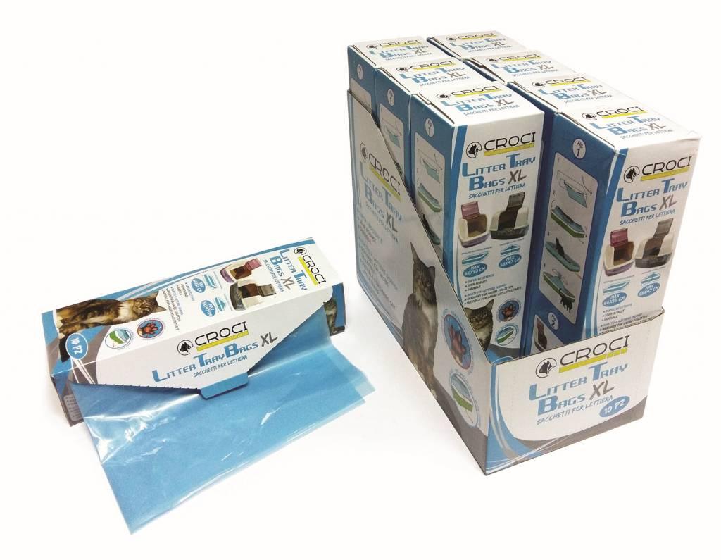Croci plastiekzak voor kattenbak 10st52.5 x39.5