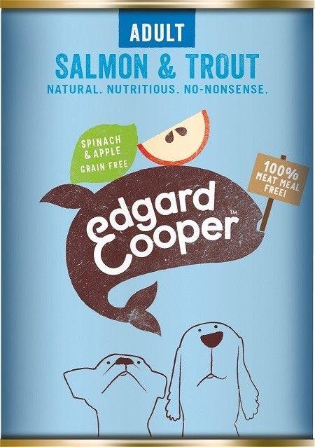 Edgard & Cooper blik 400gr zalm & forel ( spinazie &appel)