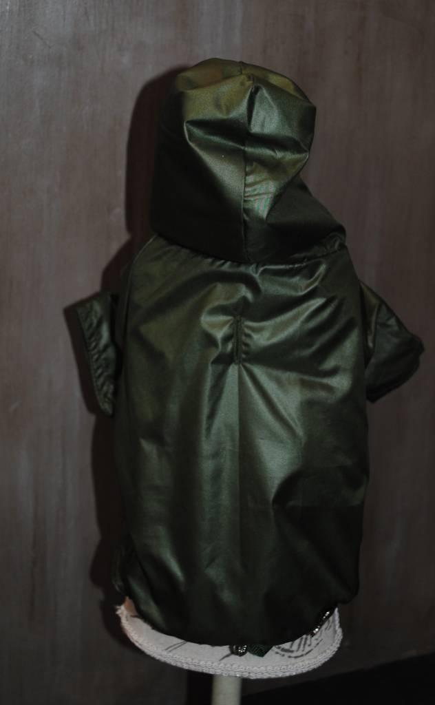 Lella Su regenjas groen met kap