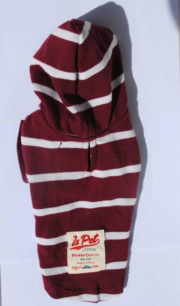 Is Pet hoody bordeau ( lang)50cm L  52cm B T-shirt