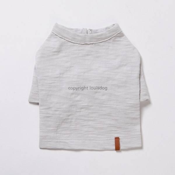 louis dog korte grijze shirt