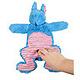 Flamingo konijn met handjes 31cm