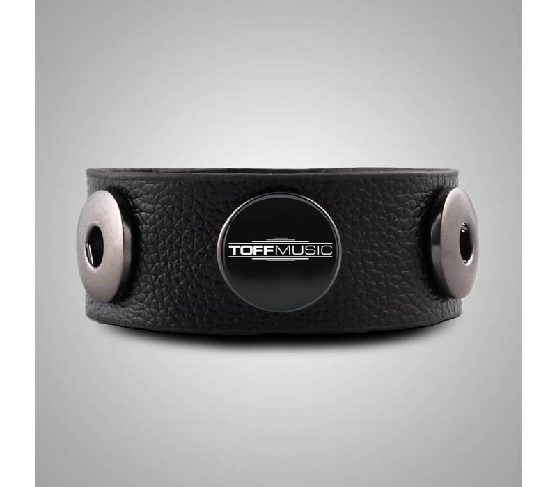 Leather Button Bracelet