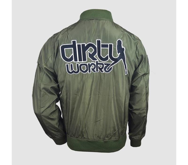 Dirty Workz - Army Green  Bomber Jacket