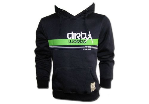 Dirty Workz - Banner Design Hoody Green