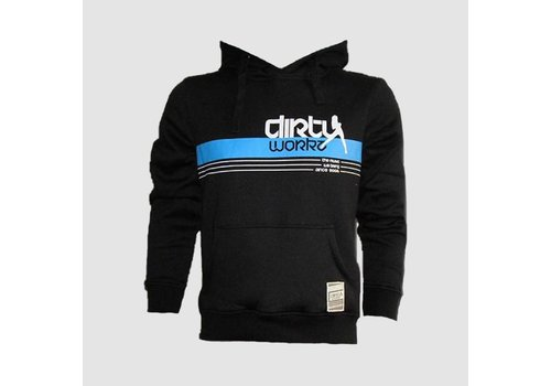 Dirty Workz - Banner Design Hoody Blue
