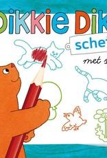 Dikkie Dik Dikkie Dik - Schetsboek met sjabloon en kleurpotloodjes