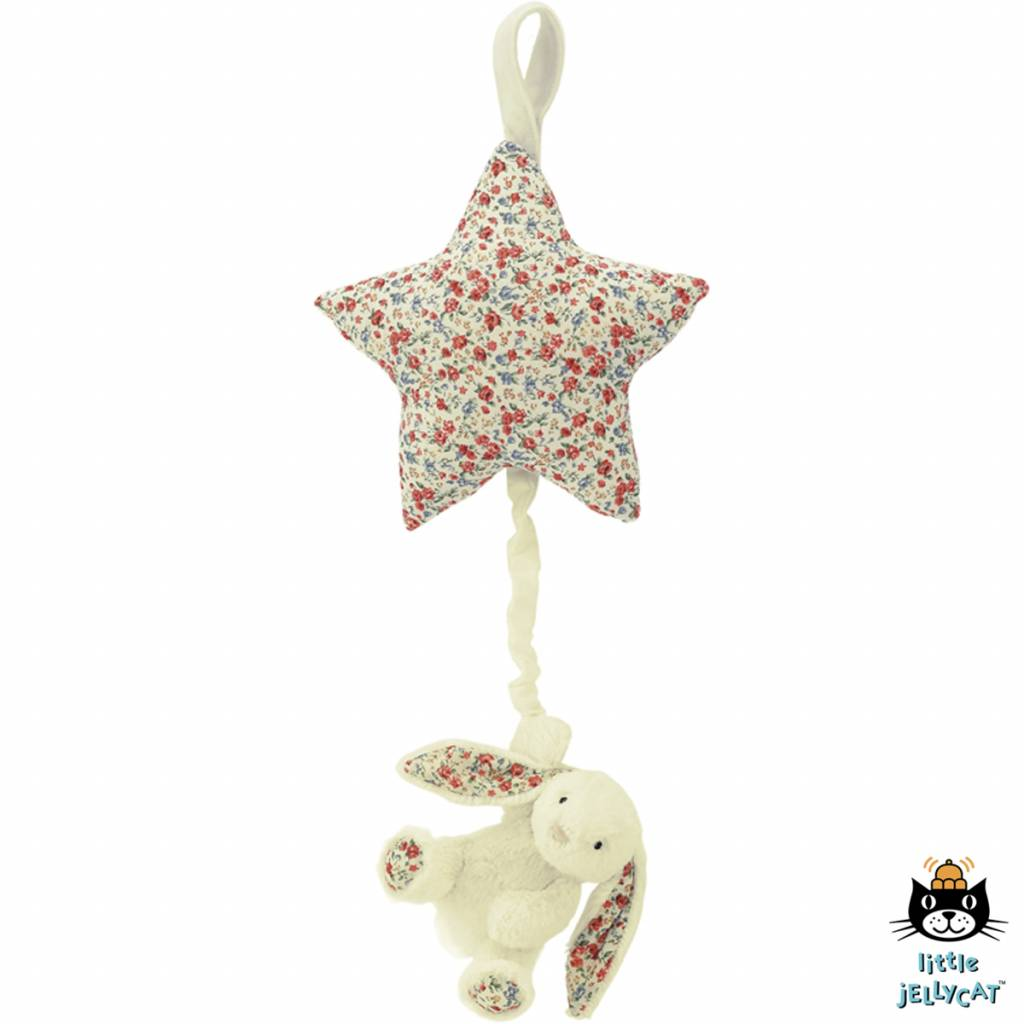 Jellycat Jellycat Blossom Bashful Cream Bunny Star Musical