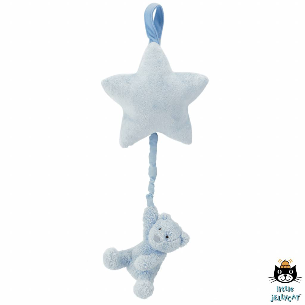 Jellycat Jellycat Bebe Blue Bear Star Musical Pull