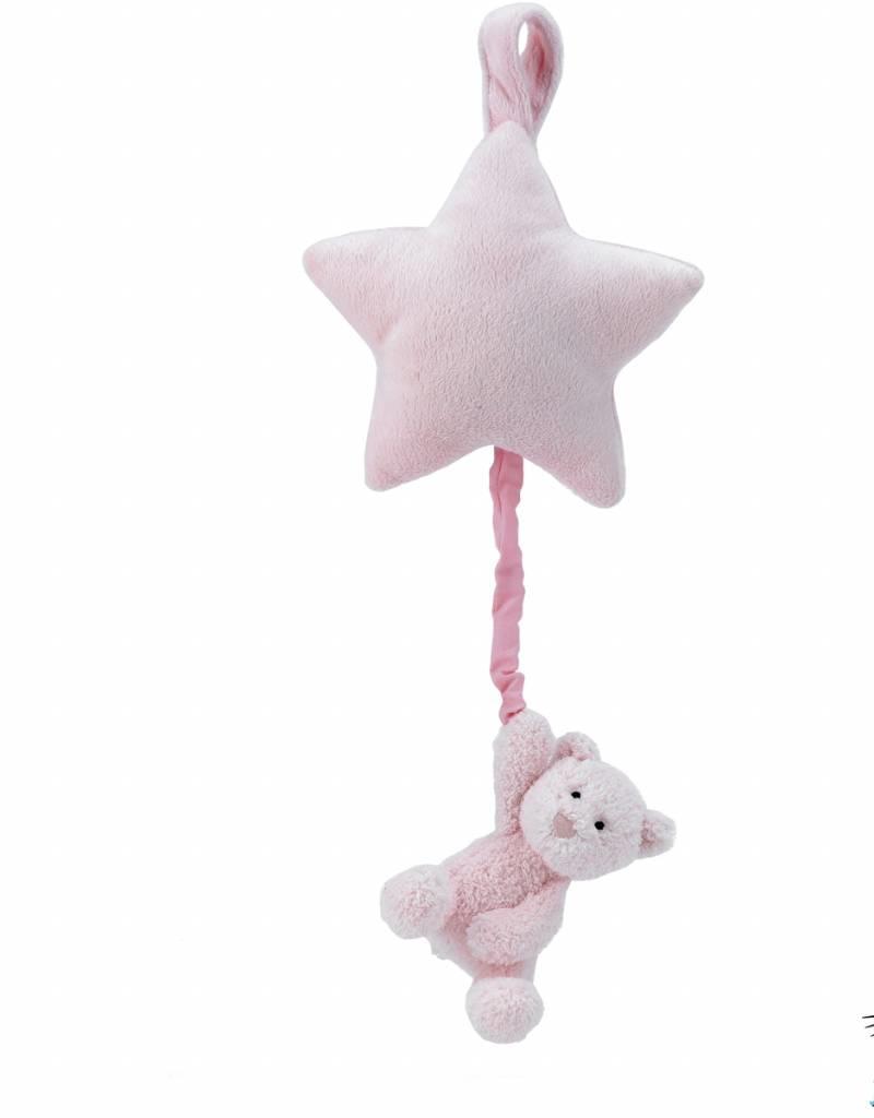 Jellycat Jellycat Bebe Pink Bear Star Musical Pull