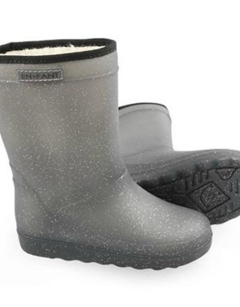 En-Fant En-Fant thermo regenlaarsjes grijs glitter