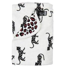 CarlijnQ CarlijnQ Baby deken Happy Panther/Leopard