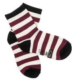 CarlijnQ CarlijnQ sokjes Stripe Rood (Laatste, 4-6jr)