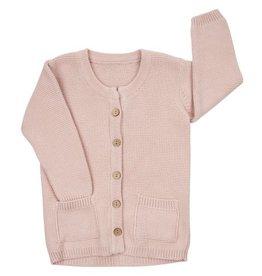 CarlijnQ CarlijnQ Knit Pink Cardigan long (Laatste, mt 74/80)